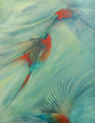 Bee-eaters 1/3 (Triptych)